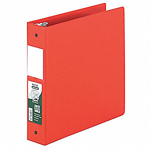 Binder,Antimicrobial,O-Ring,2 In,Red