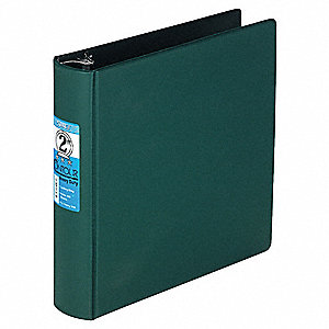 "Green Contour Heavy-Duty Locking Round Ring Binder, 2"" Round, Vinyl Covered Chipboard"