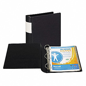 "2"" DXL  Locking D-Ring Binder With Label Holder, Black, 500-Sheet Capacity"