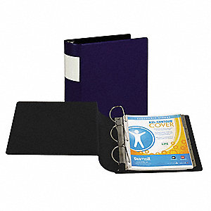 "3-Ring Binder,4"",Dark Blue"