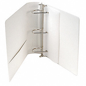 "White DXL  Heavy-Duty Locking D-Ring View Binder, 3"" D-Ring, Vinyl Covered Chipboard"