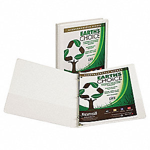 View Binder,Biodegradable,1/2 In,White