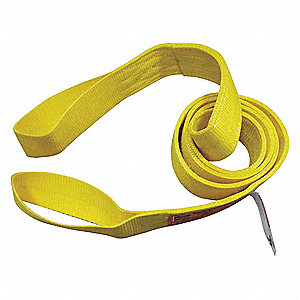 4 ft. Heavy-Duty Nylon Flat Eye and Eye Web Sling with 3200 lb. Vertical Hitch Capacity, Yellow