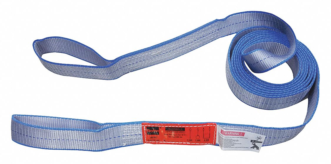 3 W Number of Plies: 2 Twisted Eye and Eye 13 ft Type 4 Web Sling Polyester