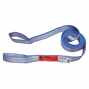 4 ft. Heavy-Duty Polyester Flat Eye and Eye Web Sling with 4800 lb. Vertical Hitch Capacity, Gray