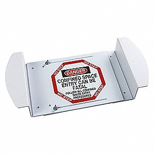 "Confined Space, Danger, Polyester, 21"" x 30"", Adhesive Surface, Not Retroreflective"
