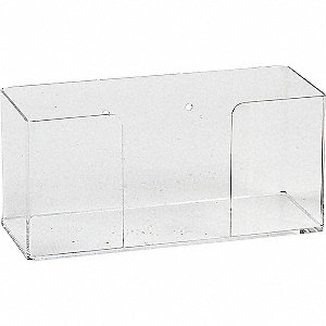 "Glove Dispenser, Clear, Acrylic, Holds: (1) Box, 10-56/64"" Width"