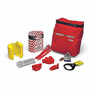 Portable Lockout Kit,Pouch,18 Components