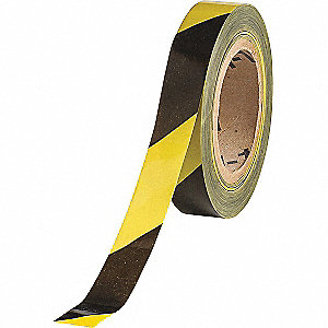 Barricade Tape,Diagonal Stripes,500 ft L