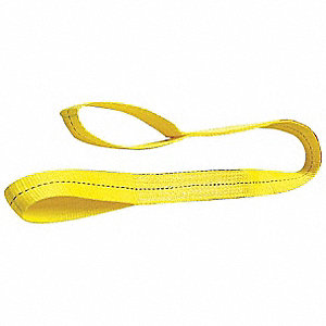 14 ft. Light-Duty Polyester Flat Eye and Eye Web Sling with 2400 lb. Vertical Hitch Capacity, Yellow