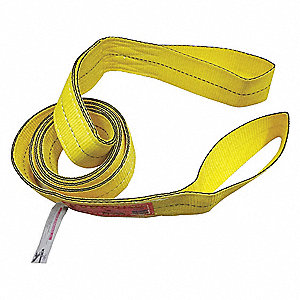 6 ft. Light-Duty Polyester Flat Eye and Eye Web Sling with 4800 lb. Vertical Hitch Capacity, Yellow