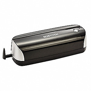 Electric 3-Hole Paper Punch,12 Sheet,Blk