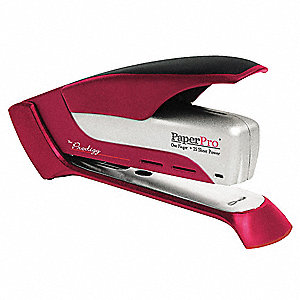 Stapler,25 Sheet,Red/Silver