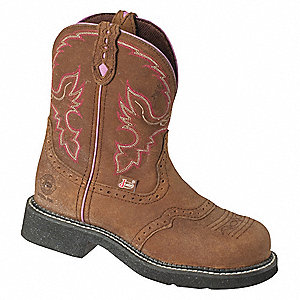 Wrk Boots,Stl,Women,10,B,Pull On,8inH,PR