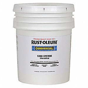 Rust oleum satin interior exterior paint water base for Exterior paint satin 5 gal