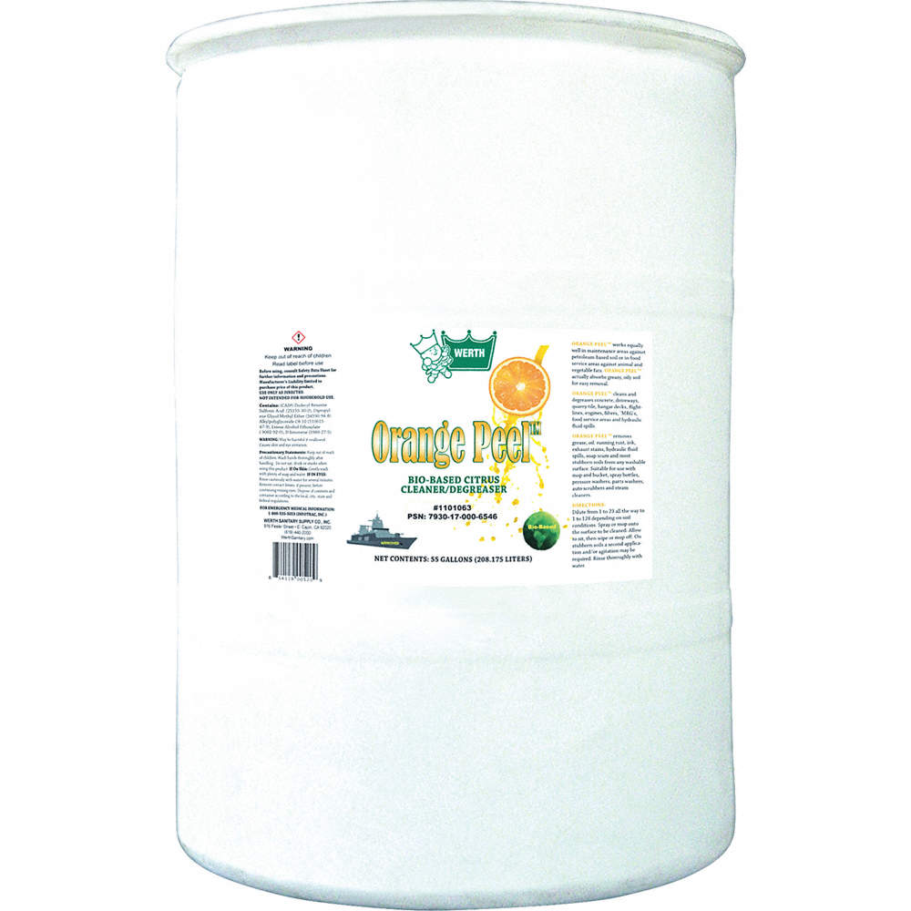 Cleaner/Degreaser, 55 gal  Drum, Unscented Liquid, Ready to Use, 1 EA