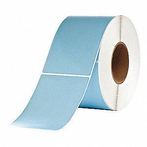 "Thermal Transfer Label, Blue, 4""W x 6"""