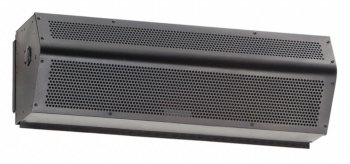 Low Profile Air Curtain, 3 ft Max. Door Width, 7 ft Max. Mount Ht., 49 dBA @ 10 Feet, 1800 fpm