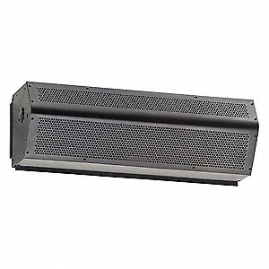 Low Profile Air Curtain, 3 ft. Max. Door Width, 7 ft. Max. Mount Ht., 49 dBA @ 10 Feet, 1800 fpm