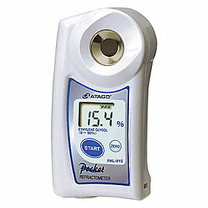 "4-19/64"" x 2-11/64"" x 1-7/32"" Hand Held Digital Refractometer"