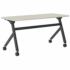 Tables,Light Gray,59-7/64inW,Flip Base