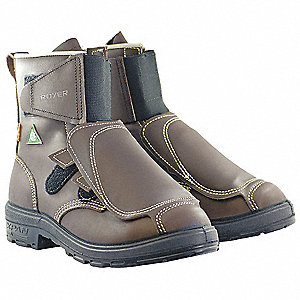 Work Boots,Mens,8-1/2,EEE,Pull On,Brn,PR