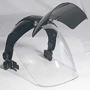 Faceshield Visor,Clear,Polycarbonate