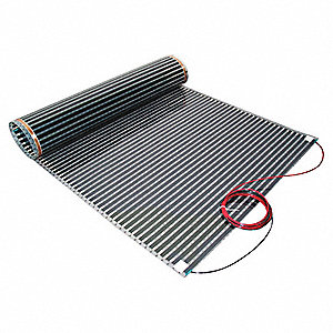 "Electric Floor Heating Kit, 8 sq. ft., Voltage 240, Watts Per Square Ft. 11, Width 18"", Length 5 ft."