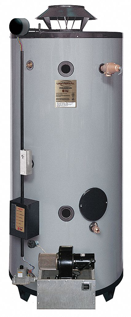 Commercial Gas Water Heater, 100.0 gal Tank Capacity, Natural Gas, 199,900 BtuH - Water Heaters