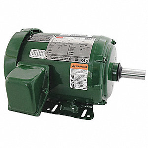 2 HP General Purpose Farm Duty Motor,3-Phase,1750 Nameplate RPM,230/460 Voltage