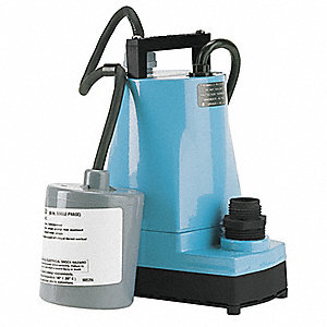 "1/6 HP Submersible Utility Pump, 115 Voltage, Discharge NPT: 1"" F, 10 ft. Cord Length"