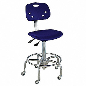 "Polypropylene Ergonomic Chair with 24"" to 29"" Seat Height Range and 300 lb. Weight Capacity, Navy"