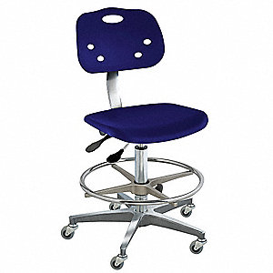 "Polypropylene Ergonomic Chair with 18"" to 25"" Seat Height Range and 300 lb. Weight Capacity, Navy"