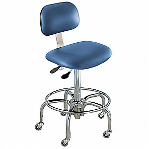 "Upholstered Vinyl Ergonomic Chair with 27 to 32"" Seat Height Range and 350 lb. Weight Capacity, Roya"