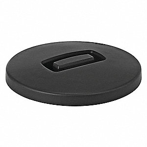 Flat-Type Trash Can Top for 4 gal., 6 gal., 8 gal. Container, Black