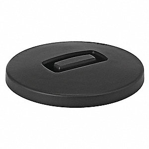 Round Flat Top Trash Can Top, Black