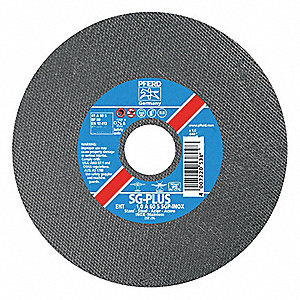 "3"" Type 1 Aluminum Oxide Abrasive Cut-Off Wheel, 3/8"" Arbor, 0.040""-Thick, 25,000 Max. RPM"