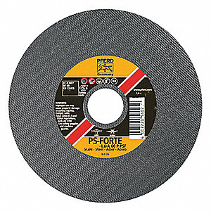 "4"" Type 1 Aluminum Oxide Abrasive Cut-Off Wheel, 1/4"" Arbor, 1/16""-Thick, 19,000 Max. RPM"