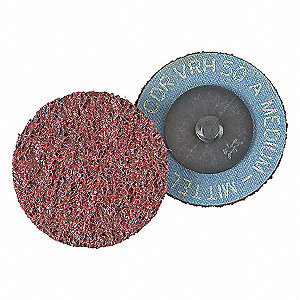 "3"" Non-Woven Quick Change Disc, TR Roll-On/Off Type 3, 80, Medium, Aluminum Oxide, 1 EA"