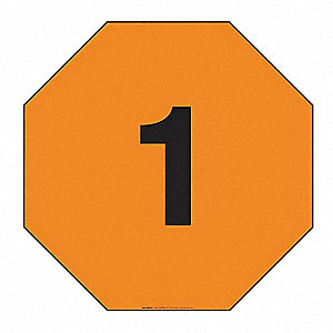 "12"" x 12"" Class 1 Plastic Fire Division Symbol Placard, Black/Orange"