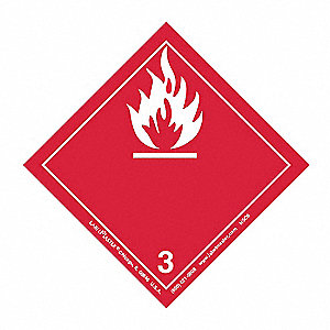 Flammable Liquid Label,100mmx100mm,500