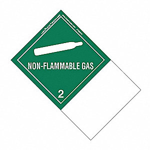Non-Flammable Gas Label, 100mmx160mm, 500