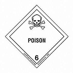 Poison Label, 100mmx100mm, Paper, 100, 100
