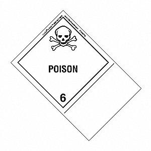 Poison Label, 100mmx150mm, Polyprop, 500