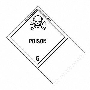 Poison Label,Blank,100mmx150mm,Paper,500