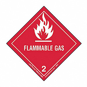 Flammable Gas Lbl,100mmx100mm,Paper,500