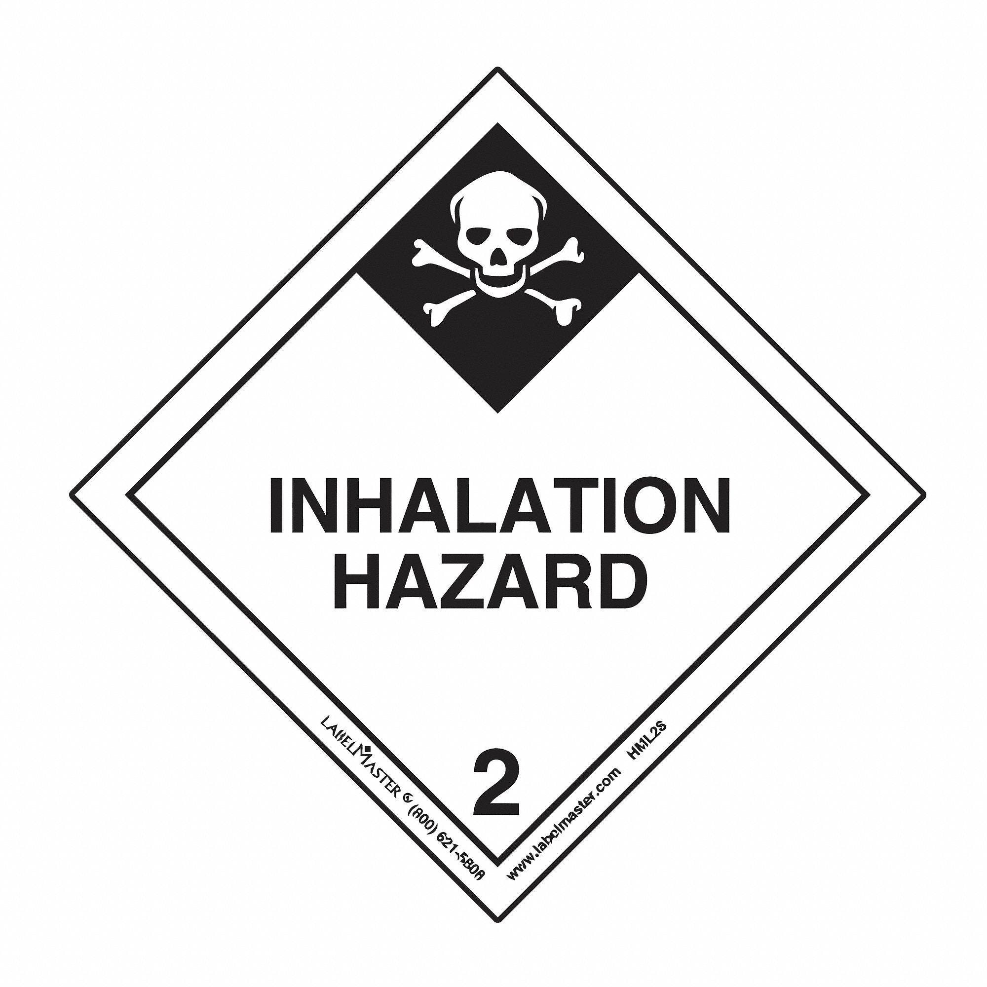 49 cfr 172 400 icao 5 3 imo 5 2 vehicle placards and placard NFPA Label for Diesel Fuel 100mm x 100mm class 2 polypropylene inhalation hazard label white black