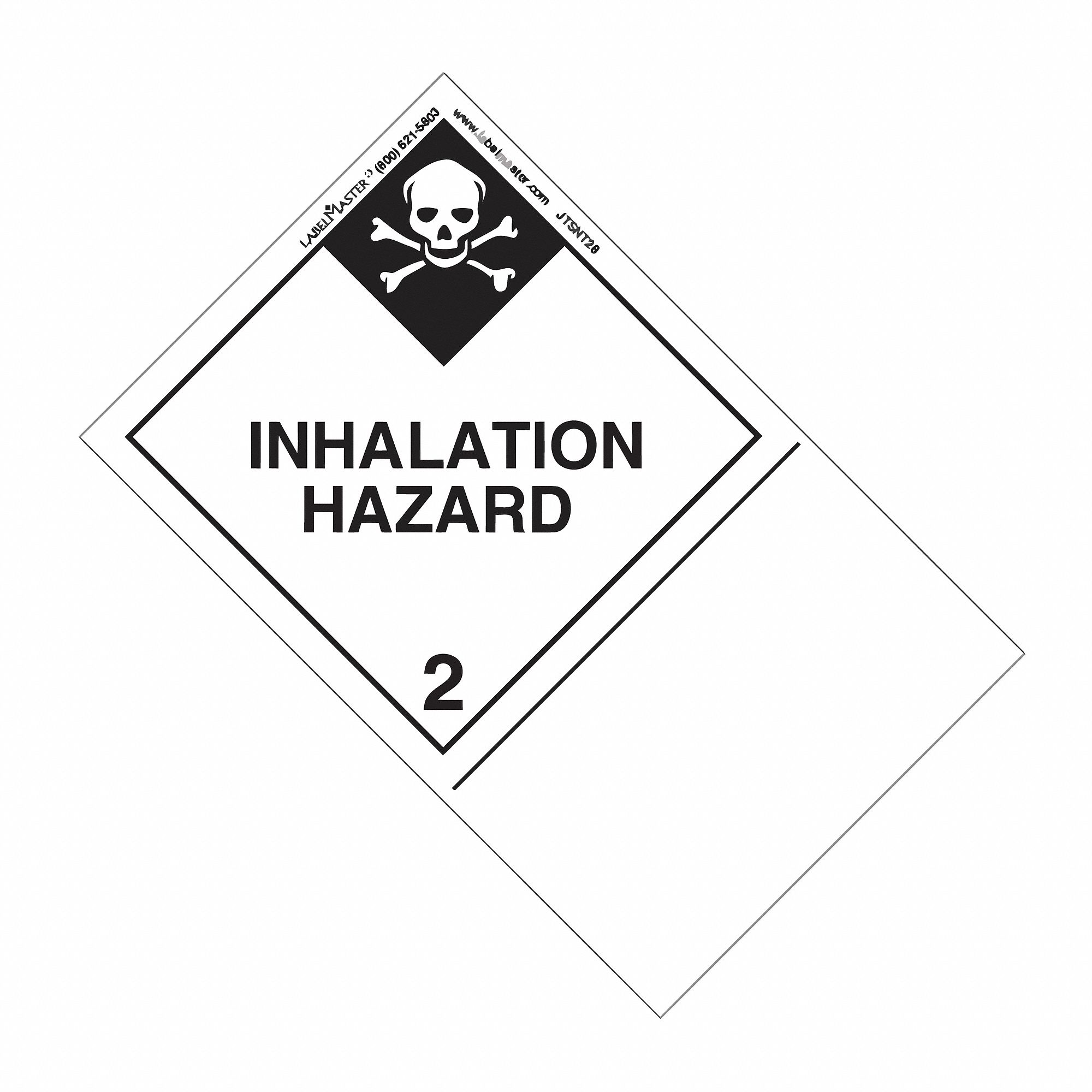 49 cfr 172 300 and 172 400 icao 5 2 and 5 3 imo 5 2 vehicle Downloadable NFPA Label 160mm x 100mm class 2 paper inhalation hazard label white black
