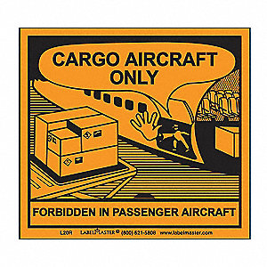 Cargo Aircraft Only Labl,100mmx120mm,100