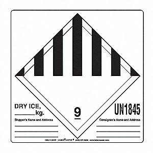 Dry Ice Label,Blank,6inx6in,Paper,500